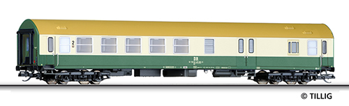Tillig 16696 - 2nd Class Passenger Coach w. Baggage Compartment