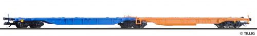 Tillig 18001 - 2pc Container Car Sdggnos/Sdggmrs 739/344 of the DB AG