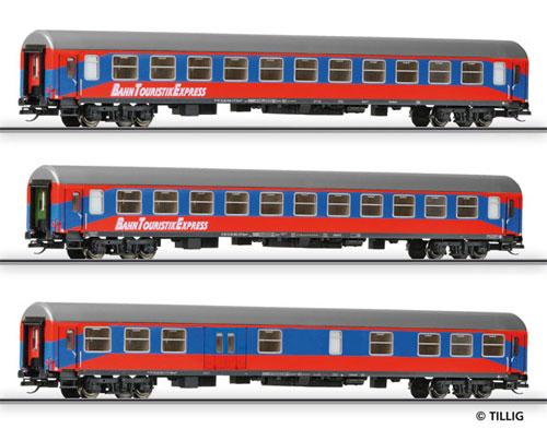 Tillig 501023 - Passenger Coach Set BahnTouristikExpress