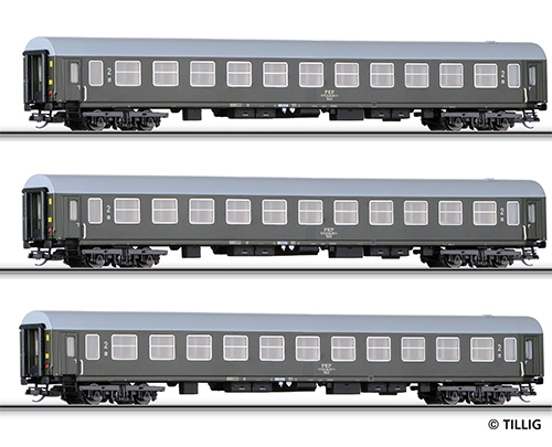 Tillig 501024 - 2nd Class Passenger Coach Set
