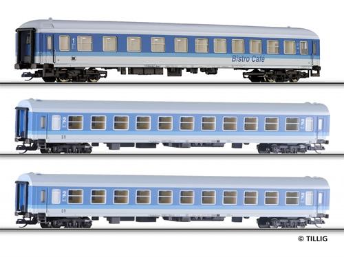 Tillig 501286 - 3pc Passenger Coach Set of the DR