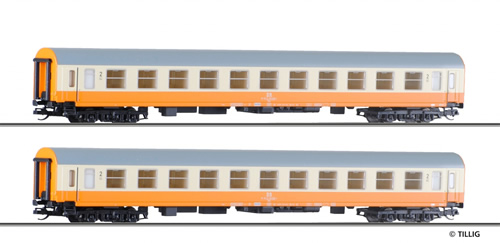 Tillig 501287 - 2pc Passenger Coach Set of the DR