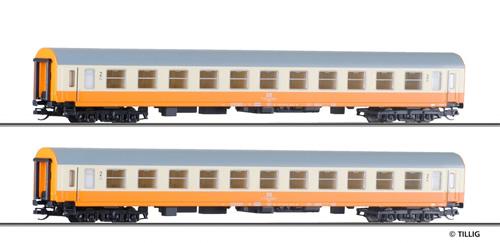 Tillig 501287 - 2pc Passenger Coach Set of the DR