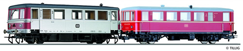 Tillig 70008 - German Railbus VT 70 971 with Trailer Car VB 140 of the DB