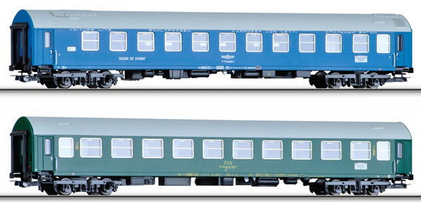 Tillig 70028 - 2pc Passenger car set Balt-Orient-Express 3
