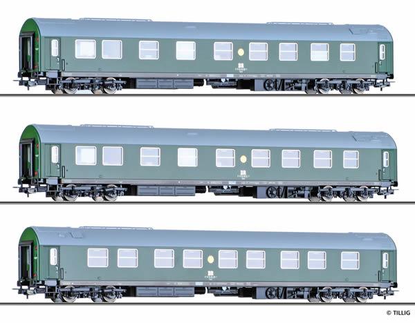 Tillig 70033 - 3pc Passenger Coach Set Salonwagenzug 1