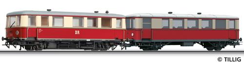 Tillig 74191 - Railbus class VT 135 with trailer car VB 140