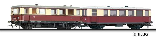 Tillig 74193 - Railbus class CvT 135 with trailer car CPost v-36