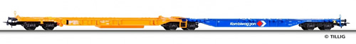 Tillig 76530 - Container car Sdggnos/Sdggmrs 739/744
