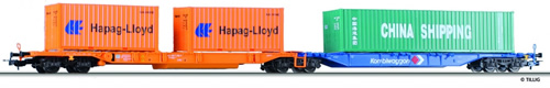 Tillig 76578 - Double Container Car