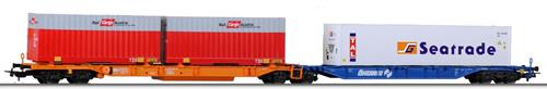 Tillig 76638 - Container Car Sdggmrss Okombi of the OBB