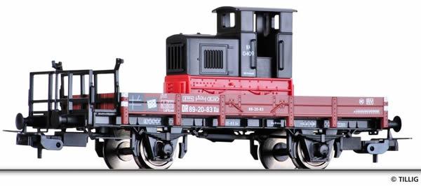 Tillig 76685 - Gondola car Xu, loaded with light railway diesel locomotive Kö 0409