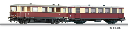 Tillig 79001 - Railbus class CvT 135 with trailer car CPost v-36