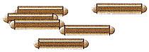 Tillig 85501 - Rail joiners, nickel silver, browned (bag of 25)
