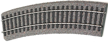 Tillig 86553 - Light grey bedding curved track R21