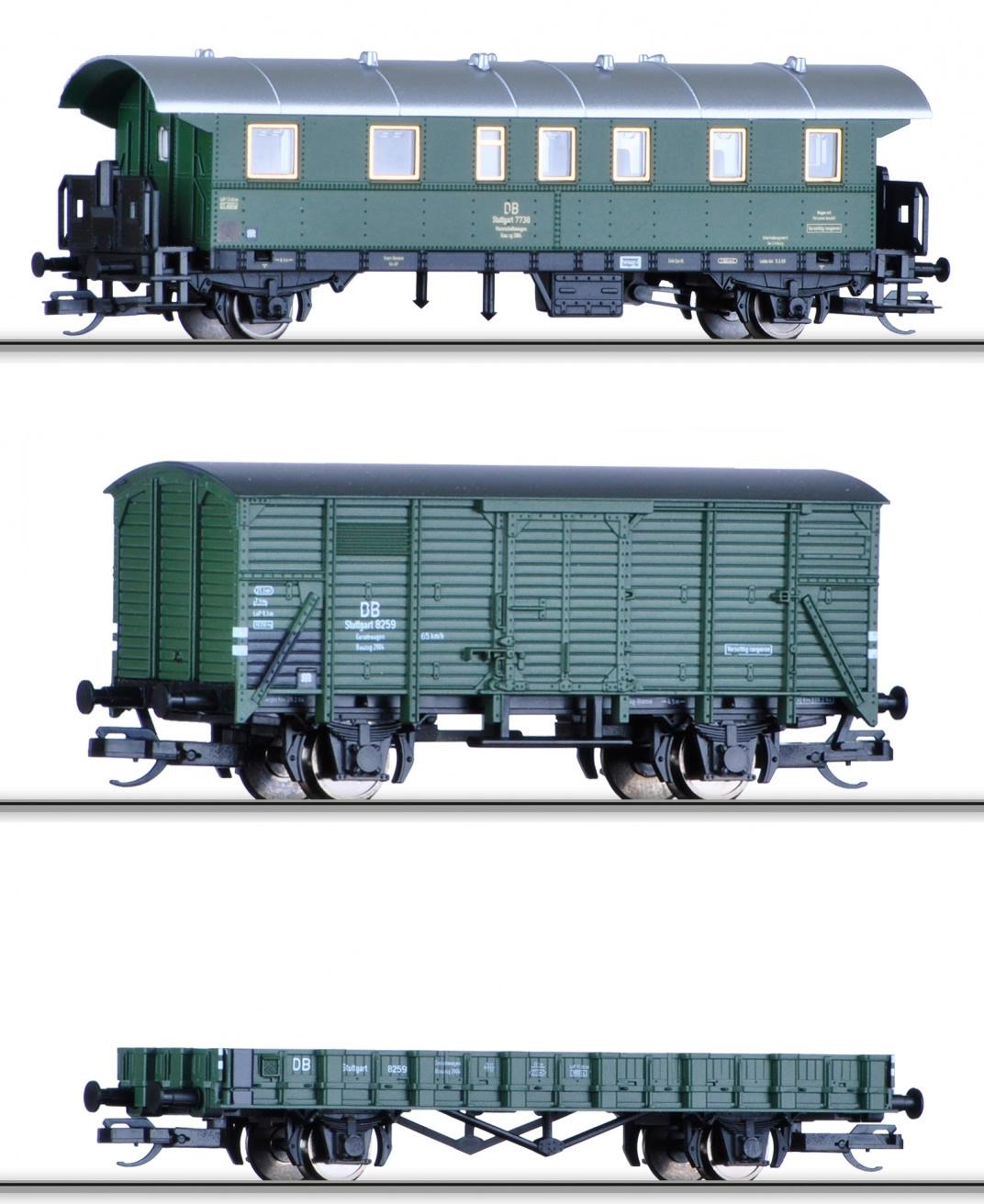 "Freight Car Set ""Bauzug"" Of The DB"