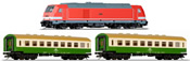 German Starter Set with Diesel Locomotive & Passenger Cars of the DR