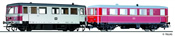 German Railbus VT 70 971 with Trailer Car VB 140 of the DB