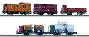 5 pc Freight Car Set 175 years Leipzig-Dresden