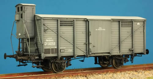 Tololoko IS1044 - Box Car of the KKStB w. Brakemans Cab