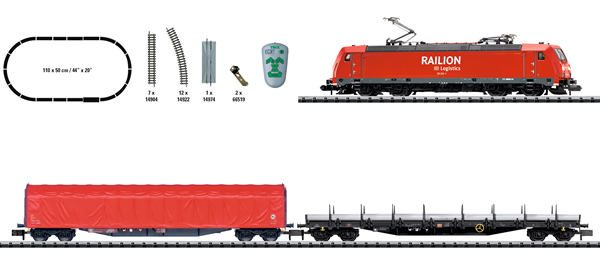 Trix 11145 - German Electric Freight Train Digital Starter Set of the DB AG (DCC)