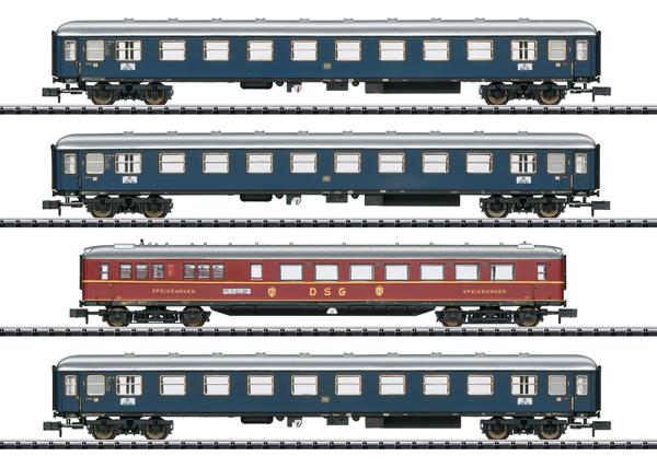 "Trix 15132 - ""MERKUR"" Express Train Passenger Car Set - MHI Exclusiv"