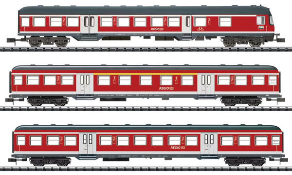 Trix 15306 - 3pc Passenger Car Set Regional Express