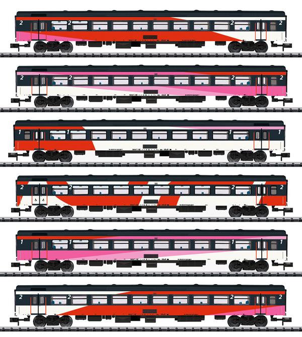 Trix 15389 - 6pc ICRm Express Train Passenger Car Set