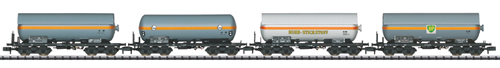 Trix 15415 - German Pressurized Gas Tank Car Set (4 cars) of the DB