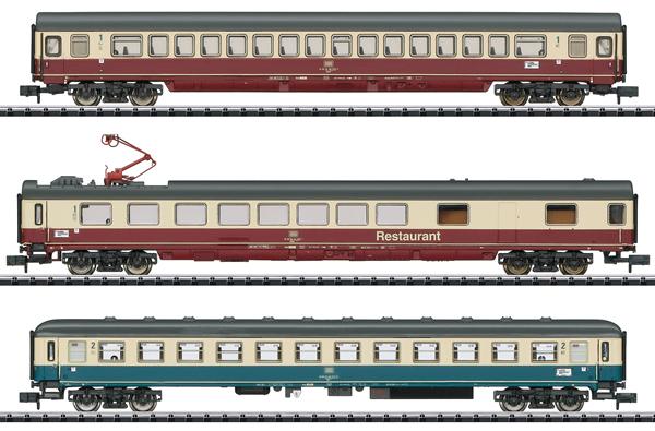 Trix 15459 - IC 611 Gutenberg Express Train Passenger Car Set #1