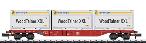 Trix 15519 - DB AG Container Flat Car with 3 type XXL WoodTainers