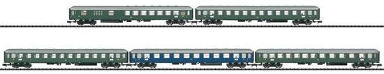 Trix 15548 - German Era III Express Train Passenger Car Set
