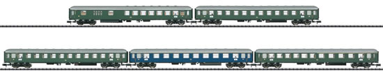 Trix 15548 - German Era III Express Train Passenger Car Set