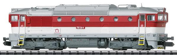 Trix 16736 - Slovenian Diesel Locomotive Class 750 of the ZSSK (DCC Decoder)