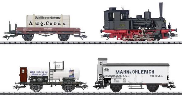 Trix 21344 - German Steam Locomotive Train Set 800 Years of Rostock of the DRG (DCC Sound Decoder)