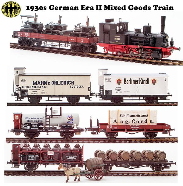 Trix 213441 - 1930s German Era II Mixed Goods Train