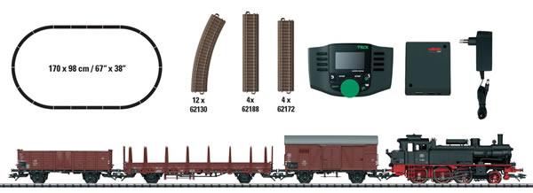 Trix 21528 - German Freight Train Digital Starter Set of the DB