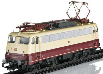 Trix 22064 - German Electric Locomotive BR 112 Bügelfalte of the DB (DCC Sound Decoder)