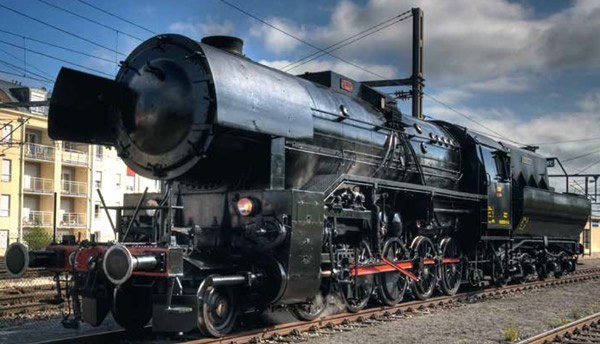 Trix 22220 - Luxembourg Heavy Steam Freight Locomotive Road Number 5519, Museum of the CFL (DCC Sound Decoder)