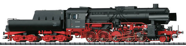 Trix 22224 - German Heavy Steam Freight Locomotive BR 42 with a Tub-Style Tender of the DB (DCC Sound Decoder)