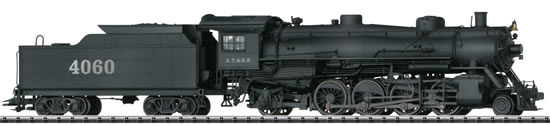 Trix 22591 - USA Steam Locomotive with a Tender Mikado type 2-8-2 of the AT&SF (DCC Sound Decoder)