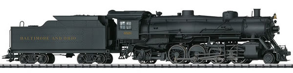Trix 22816 - USA Light Mikado Steam Locomotive Class Q-3 with a Tender of the B&O Railroad (DCC Sound Decoder)