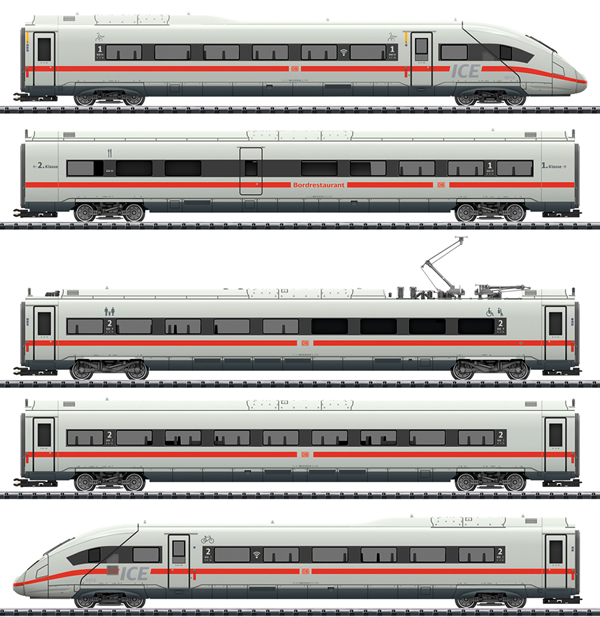 Trix 22971 - Dgtl ICE 4 Class 412/812 Powered Railcar Train, DB AG
