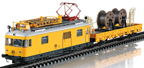 Trix 22973 - German Class 701 Powered Catenary Maintenance Rail Car of the DB