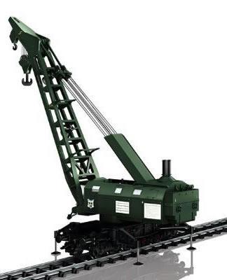 Trix 23057 - German Ardelt 57 Metric Ton Steam Crane of the DB (DCC Sound Decoder)