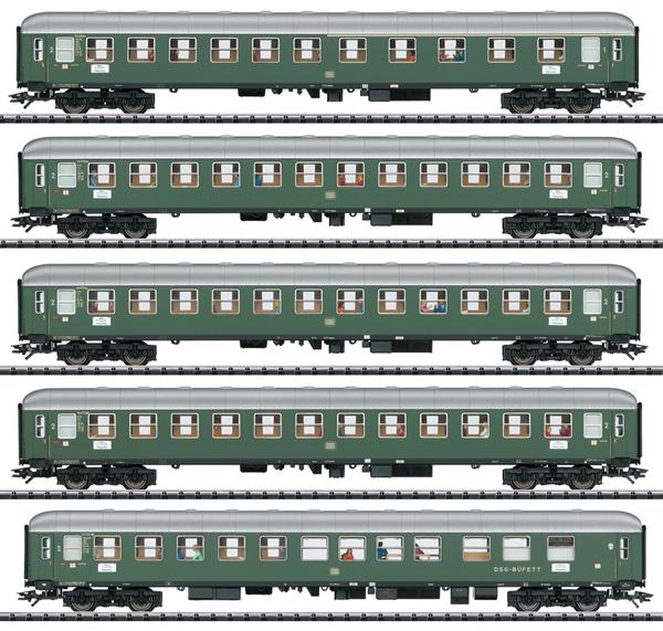 Trix 23132 - 5pc Express Passenger Train Set 1 D96 Isar-Rhone - INSIDER MODEL