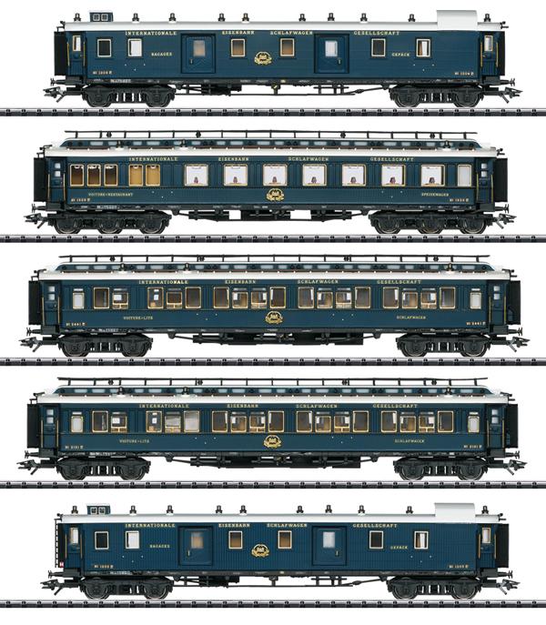 """Trix 23219 - """"Simplon Orient Express"""" Express Train Passenger Car Set 1"""