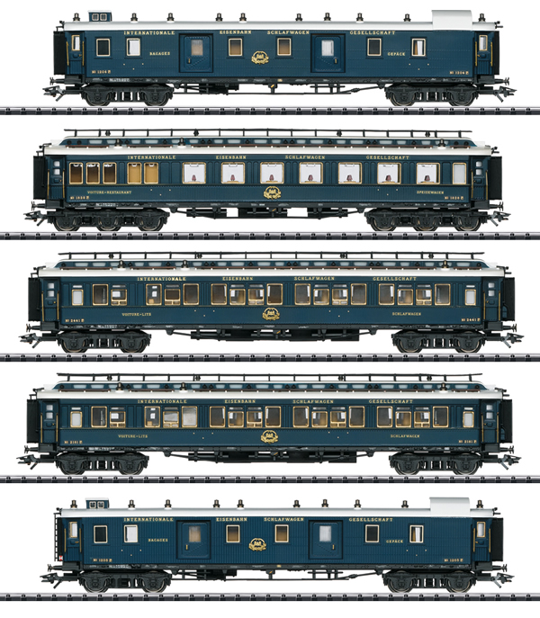 "Trix 23219 - ""Simplon Orient Express"" Express Train Passenger Car Set 1"