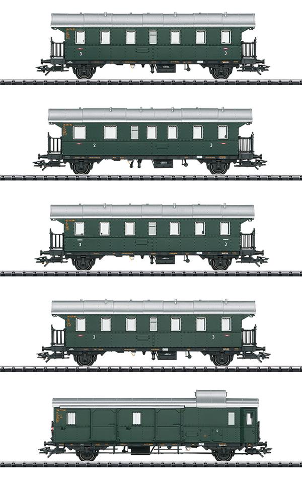Trix 23308 - German Passenger Car Set of the DB