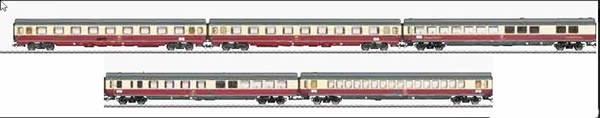 Trix 23475 - German TEE 5 Car Passenger Set (2017 Insider Club Model)